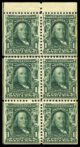 Cost Of Us Stamp Scott Catalogue 300 1903 1c Franklin