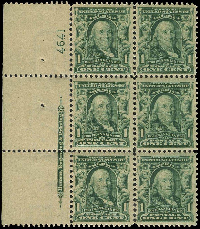 Price of US Stamp Scott # 300: 1c 1903 Franklin. Regency-Superior, Aug 2015, Sale 112, Lot 1300