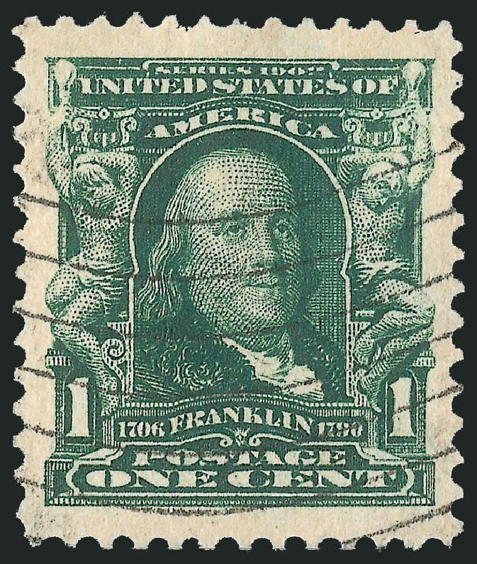 US Stamp Value Scott # 300 - 1c 1903 Franklin. Robert Siegel Auction Galleries, Nov 2013, Sale 1061, Lot 3820