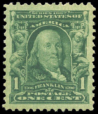 Costs Of Us Stamp Scott 300 1c 1903 Franklin