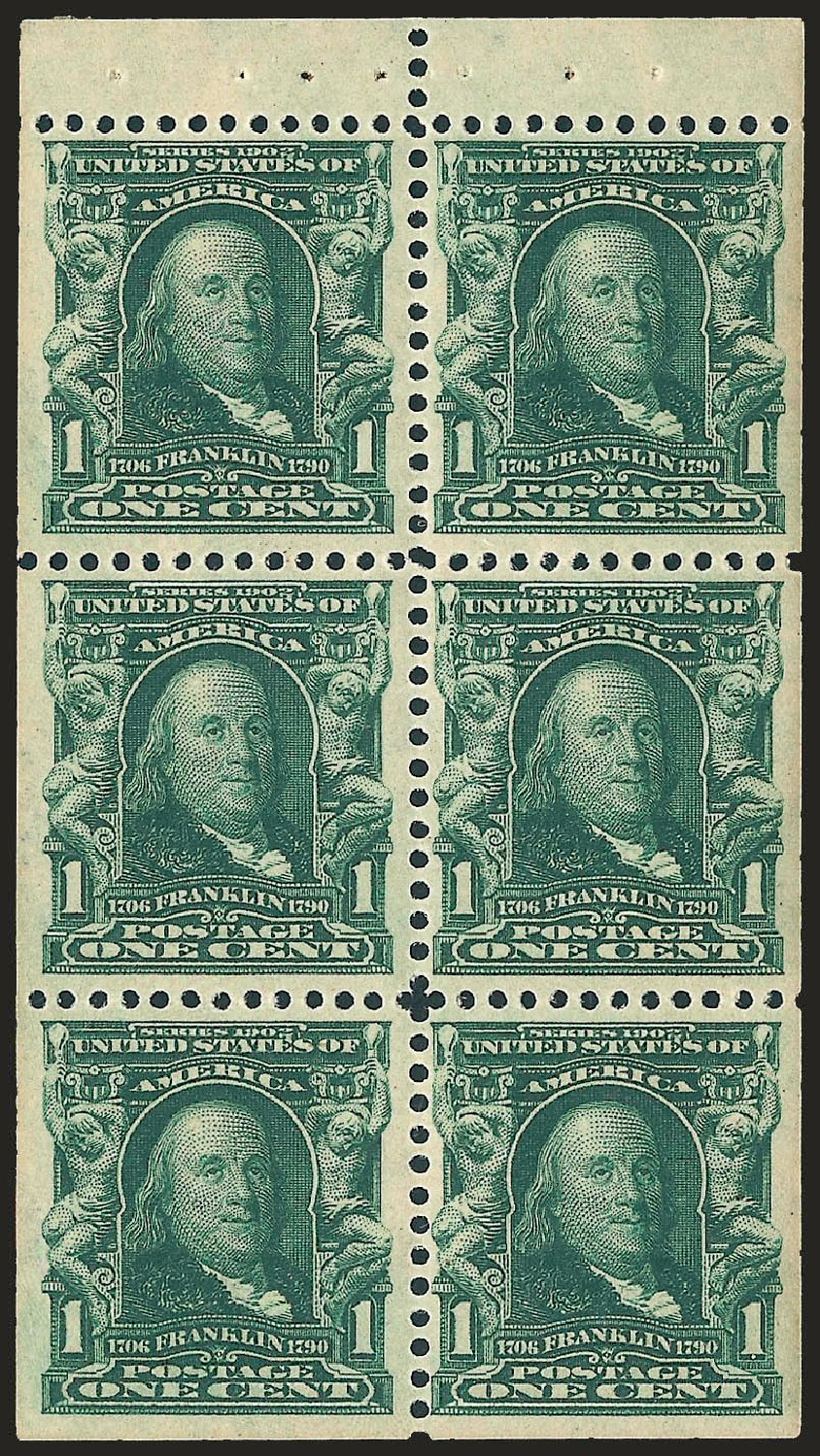 Values Of Us Stamp Scott Catalogue 300 1c 1903 Franklin