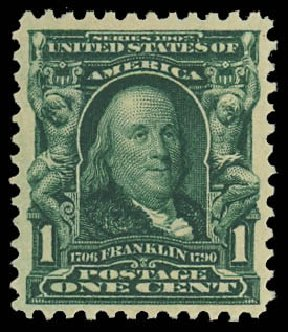 Value Of Us Stamp Scott Cat 300 1903 1c Franklin