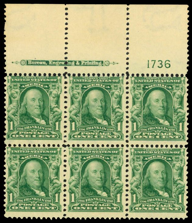 Costs of US Stamp Scott Catalog # 300: 1c 1903 Franklin. Daniel Kelleher Auctions, Apr 2013, Sale 636, Lot 276