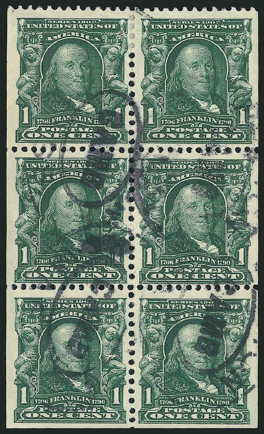 US Stamp Value Scott #300 - 1c 1903 Franklin. Robert Siegel Auction Galleries, Feb 2015, Sale 1093, Lot 6