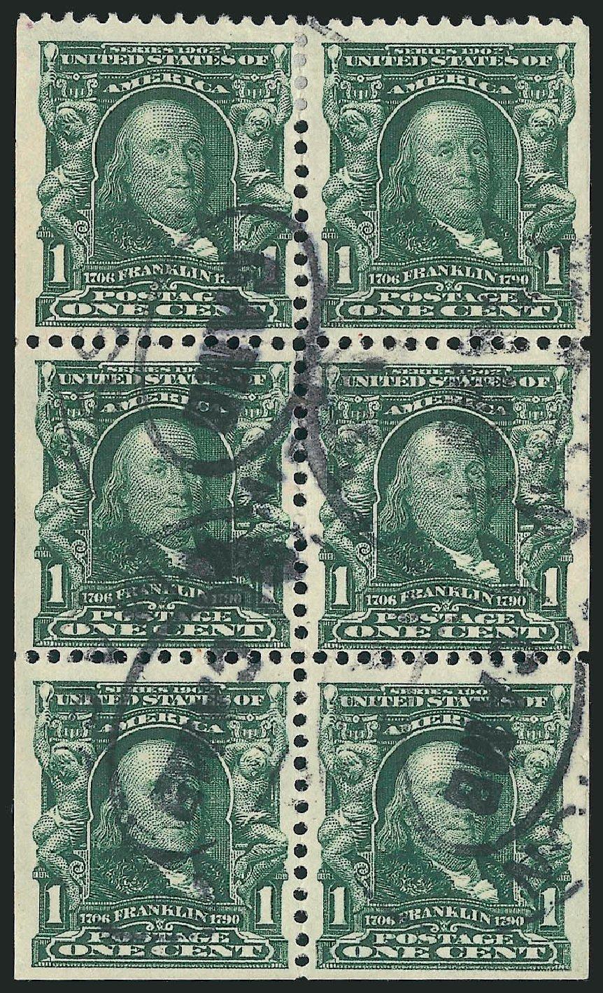 US Stamp Value Scott #300 - 1c 1903 Franklin. Robert Siegel Auction Galleries, Feb 2015, Sale 1093, Lot 6
