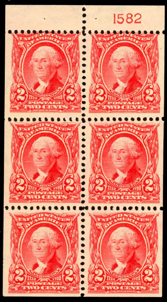Values of US Stamp Scott Catalog 301: 1903 2c Washington. Daniel Kelleher Auctions, Jan 2015, Sale 663, Lot 1605