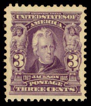 US Stamps Prices Scott Catalogue #302: 1903 3c Jackson. Daniel Kelleher Auctions, Jan 2015, Sale 663, Lot 1607
