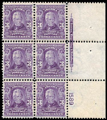 Prices of US Stamps Scott Cat. 302: 1903 3c Jackson. Schuyler J. Rumsey Philatelic Auctions, Apr 2015, Sale 60, Lot 2897