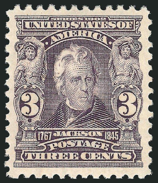 Value of US Stamp Scott Catalogue #302 - 1903 3c Jackson. Robert Siegel Auction Galleries, Feb 2015, Sale 1093, Lot 9