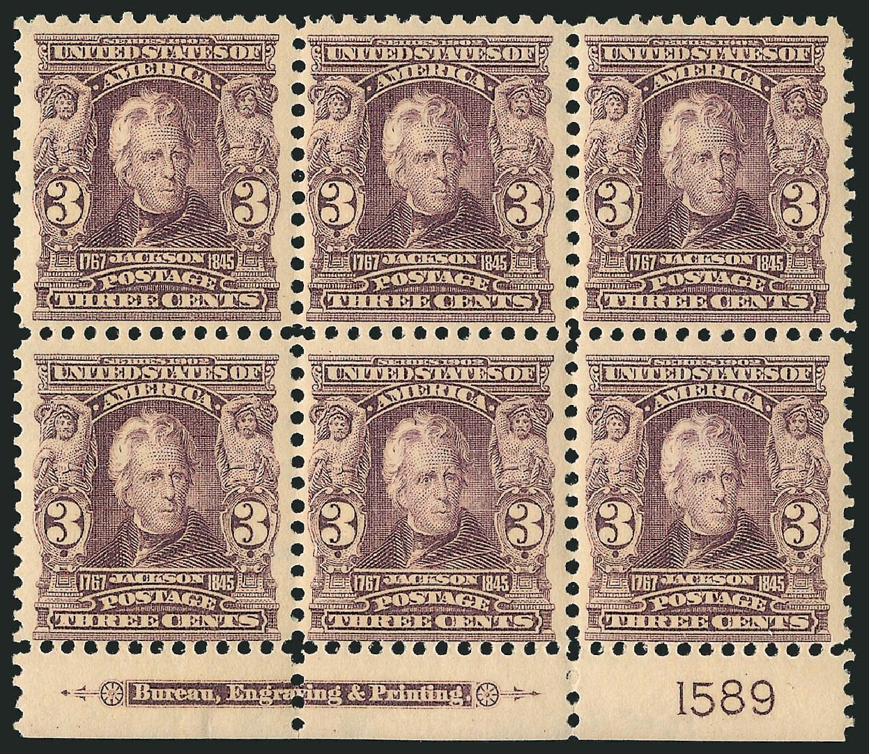 US Stamp Prices Scott Cat. # 302: 3c 1903 Jackson. Robert Siegel Auction Galleries, Feb 2015, Sale 1093, Lot 11