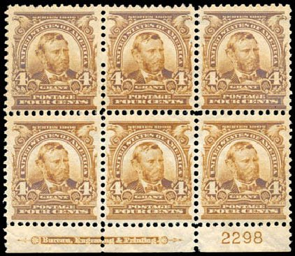 Values of US Stamp Scott 303: 1903 4c Grant. Schuyler J. Rumsey Philatelic Auctions, Apr 2015, Sale 60, Lot 2898