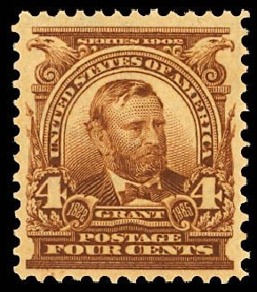 US Stamps Prices Scott Catalog #303: 1903 4c Grant. Daniel Kelleher Auctions, Dec 2012, Sale 633, Lot 531