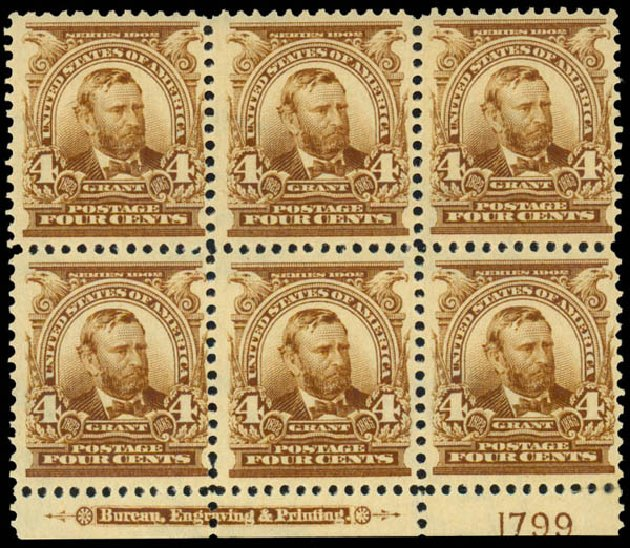 Costs of US Stamps Scott Catalogue 303: 4c 1903 Grant. Daniel Kelleher Auctions, Dec 2013, Sale 640, Lot 284