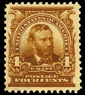 Price of US Stamp Scott Catalogue 303 - 4c 1903 Grant. Daniel Kelleher Auctions, Dec 2012, Sale 633, Lot 532