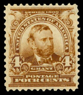 Costs of US Stamps Scott Catalogue #303: 4c 1903 Grant. Daniel Kelleher Auctions, May 2015, Sale 669, Lot 2852