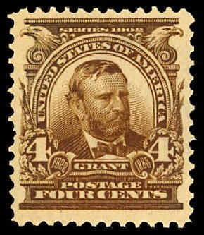 Cost of US Stamp Scott #303: 1903 4c Grant. Daniel Kelleher Auctions, Dec 2012, Sale 633, Lot 533