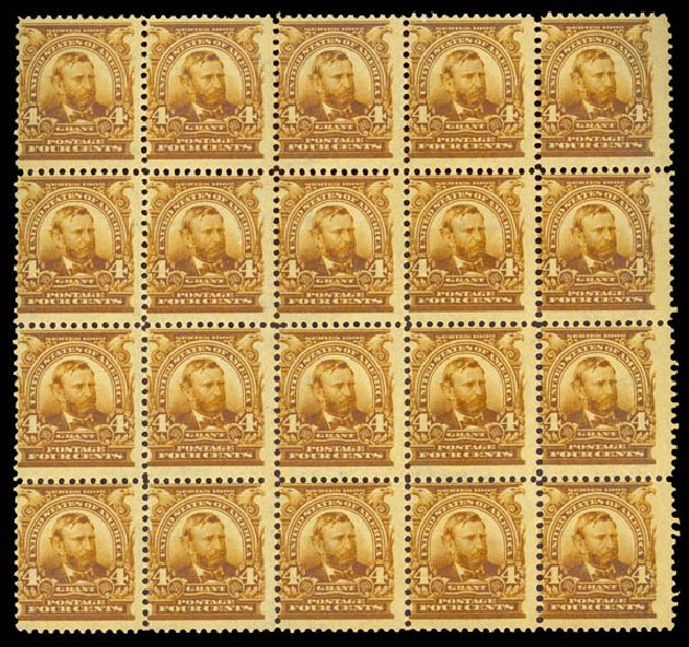 Value of US Stamps Scott Catalog #303 - 1903 4c Grant. Daniel Kelleher Auctions, Dec 2013, Sale 640, Lot 283