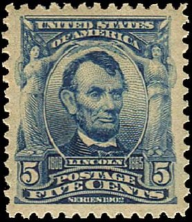 US Stamp Value Scott Catalog # 304: 1903 5c Lincoln. Regency-Superior, Nov 2014, Sale 108, Lot 657