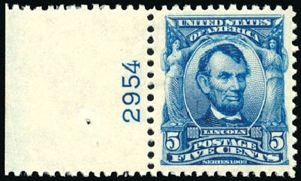 Values of US Stamp Scott Catalog # 304: 1903 5c Lincoln. Schuyler J. Rumsey Philatelic Auctions, Apr 2015, Sale 60, Lot 2777