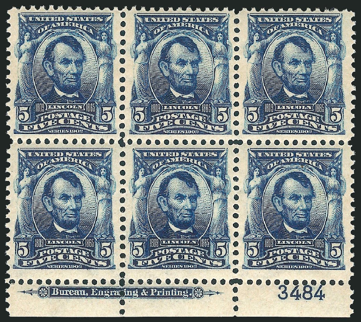 US Stamps Values Scott Catalog #304 - 5c 1903 Lincoln. Robert Siegel Auction Galleries, Mar 2014, Sale 1067, Lot 1360