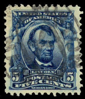 Value of US Stamp Scott Catalog # 304 - 1903 5c Lincoln. Daniel Kelleher Auctions, Dec 2013, Sale 640, Lot 285