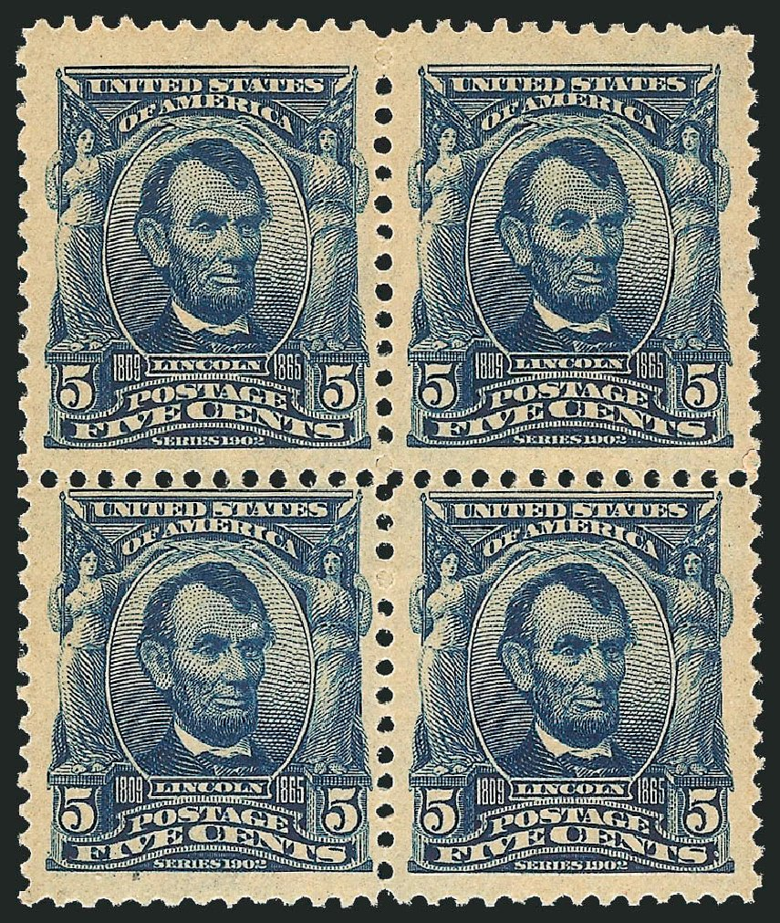Value of US Stamps Scott #304 - 1903 5c Lincoln. Robert Siegel Auction Galleries, Apr 2014, Sale 1068, Lot 225
