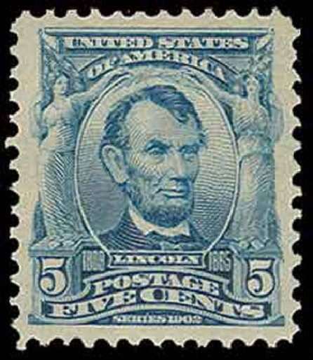 Price of US Stamps Scott Catalogue #304 - 1903 5c Lincoln. H.R. Harmer, Nov 2013, Sale 3004, Lot 1222
