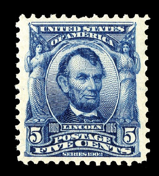US Stamps Price Scott #304 - 5c 1903 Lincoln. Spink Shreves Galleries, May 2014, Sale 148, Lot 253