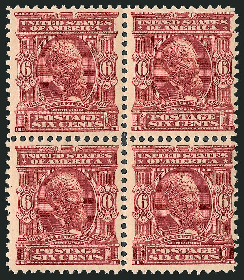 Price of US Stamp Scott Catalogue #305 - 1903 6c Garfield. Robert Siegel Auction Galleries, Oct 2011, Sale 1014, Lot 1727