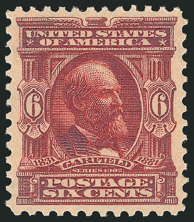 US Stamp Value Scott Catalog # 305: 6c 1903 Garfield. Robert Siegel Auction Galleries, Oct 2012, Sale 1033, Lot 4172