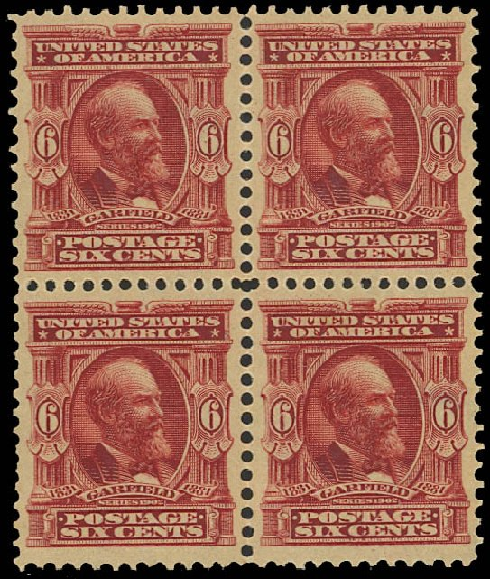 Price of US Stamp Scott Cat. # 305: 1903 6c Garfield. Daniel Kelleher Auctions, Jan 2012, Sale 628, Lot 433