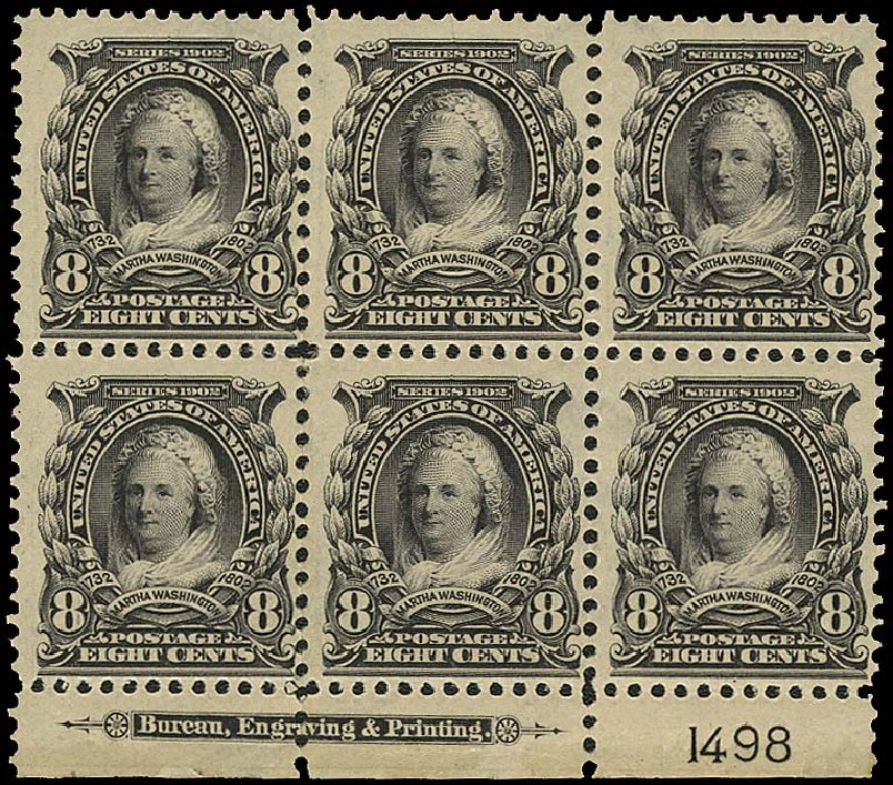 Prices of US Stamps Scott Catalog 306: 8c 1902 Martha Washington. Regency-Superior, Aug 2015, Sale 112, Lot 1308