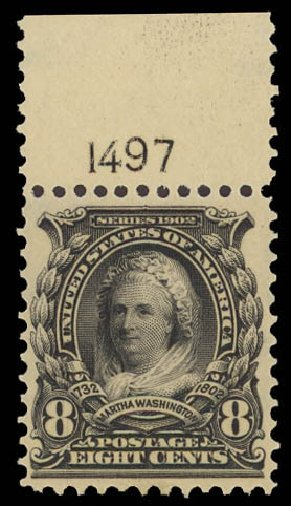 Costs Of Us Stamps Scott Catalogue 306 1902 8c Martha