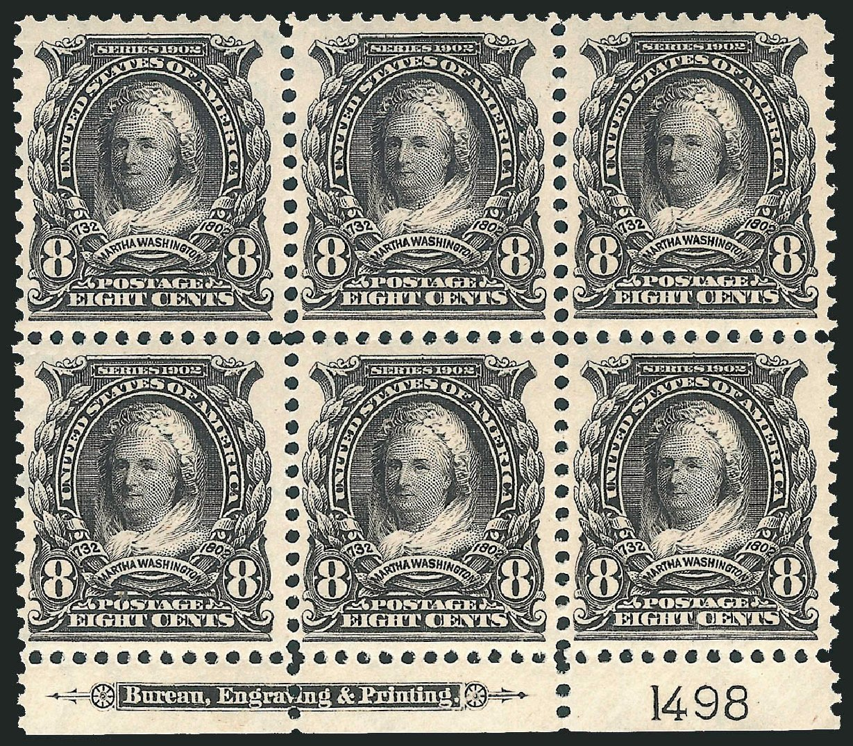 Prices of US Stamp Scott Cat. #306: 1902 8c Martha Washington. Robert Siegel Auction Galleries, Mar 2014, Sale 1067, Lot 1361