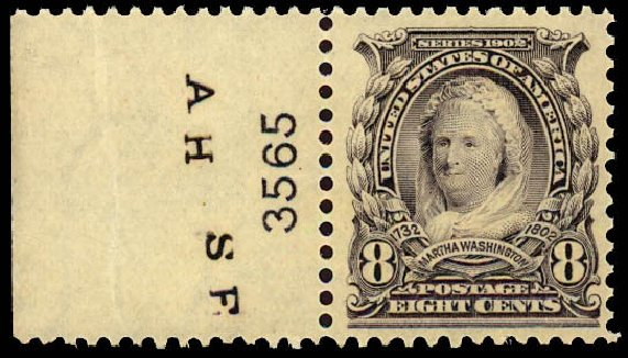 Prices of US Stamp Scott # 306 - 1902 8c Martha Washington. Daniel Kelleher Auctions, Dec 2012, Sale 633, Lot 544