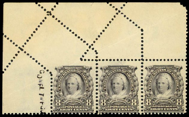 Cost of US Stamps Scott Cat. #306 - 1902 8c Martha Washington. Daniel Kelleher Auctions, Apr 2013, Sale 636, Lot 282