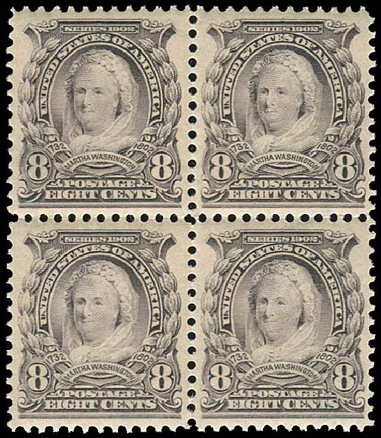 Costs of US Stamps Scott Catalog 306 - 1902 8c Martha Washington. Regency-Superior, Jan 2015, Sale 109, Lot 1082