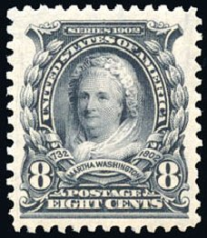 Value of US Stamp Scott Catalog # 306: 1902 8c Martha Washington. Schuyler J. Rumsey Philatelic Auctions, Apr 2015, Sale 60, Lot 2312
