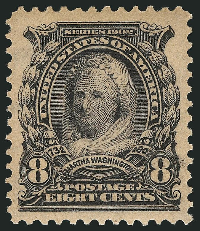 US Stamps Prices Scott # 306: 8c 1902 Martha Washington. Robert Siegel Auction Galleries, Feb 2015, Sale 1093, Lot 16