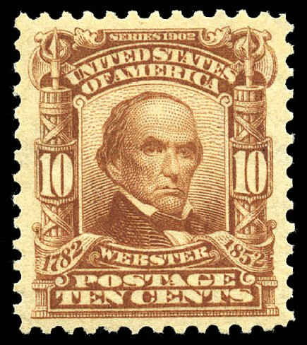 US Stamp Prices Scott # 307: 10c 1903 Webster. Matthew Bennett International, May 2014, Sale 350, Lot 450