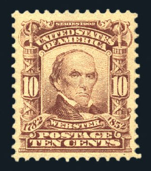 Cost of US Stamps Scott Cat. # 307: 10c 1903 Webster. Harmer-Schau Auction Galleries, Aug 2015, Sale 106, Lot 1734