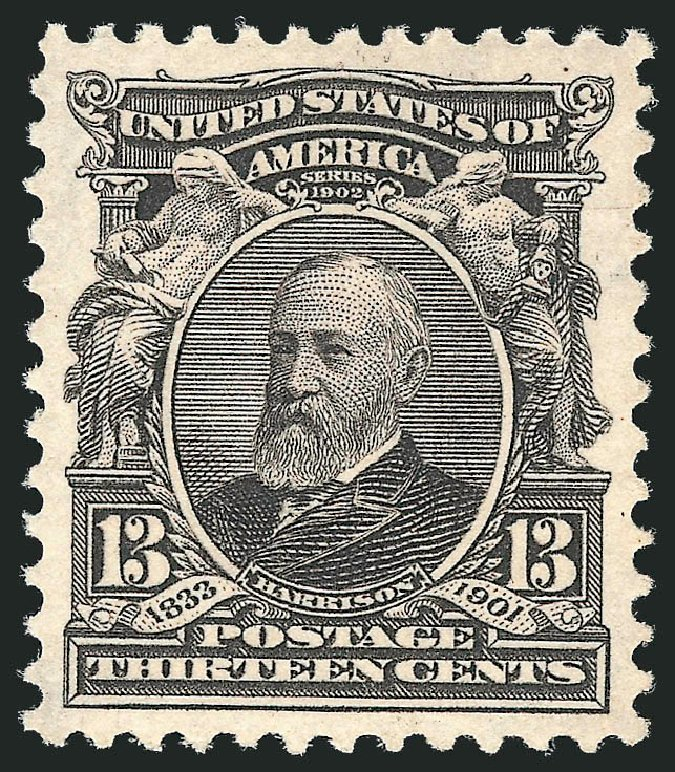 Cost of US Stamp Scott Catalogue 308: 1902 13c Harrison. Robert Siegel Auction Galleries, Dec 2013, Sale 1062, Lot 488
