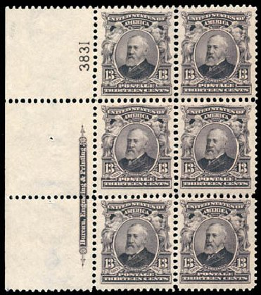 Prices of US Stamps Scott #308: 1902 13c Harrison. Schuyler J. Rumsey Philatelic Auctions, Apr 2015, Sale 60, Lot 2899