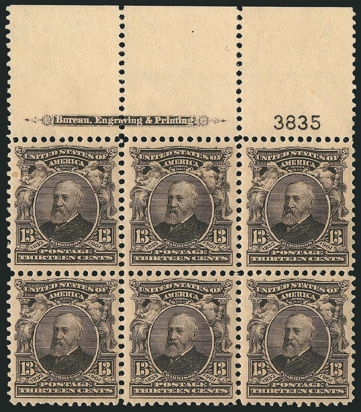 US Stamp Price Scott Catalog 308 - 1902 13c Harrison. Robert Siegel Auction Galleries, Feb 2015, Sale 1093, Lot 19