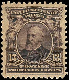 Values of US Stamp Scott Cat. 308 - 1902 13c Harrison. Regency-Superior, Aug 2015, Sale 112, Lot 661