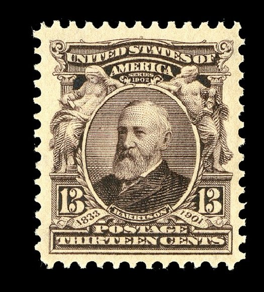 Price of US Stamps Scott #308: 1902 13c Harrison. Spink Shreves Galleries, May 2014, Sale 148, Lot 254