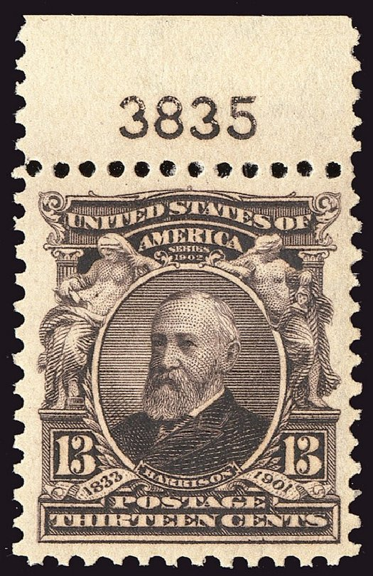 Values of US Stamp Scott 308 - 1902 13c Harrison. Spink Shreves Galleries, Jan 2014, Sale 146, Lot 355