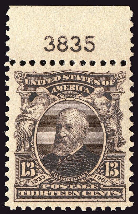 Values of US Stamp Scott 308 - 1902 13c Harrison. Spink Shreves Galleries, Jan 2014, Sale 146, Lot 355