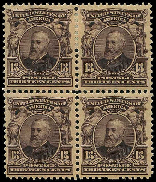 Cost of US Stamps Scott Catalogue 308: 13c 1902 Harrison. Regency-Superior, Nov 2014, Sale 108, Lot 663