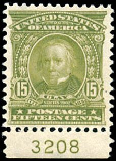 Price of US Stamp Scott Catalogue 309: 15c 1903 Henry Clay. Schuyler J. Rumsey Philatelic Auctions, Apr 2015, Sale 60, Lot 2779